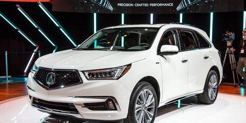 2017 Acura Mdx New Hybrid Model More Standard Safety Gear