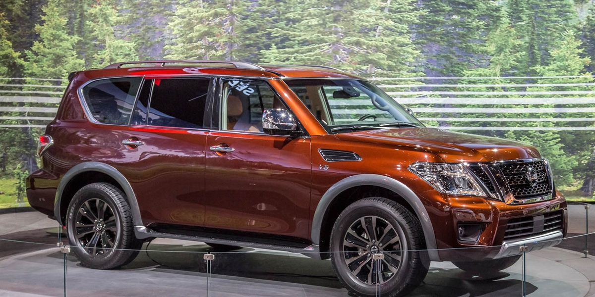 2017 nissan armada photos and info news car and driver. Black Bedroom Furniture Sets. Home Design Ideas