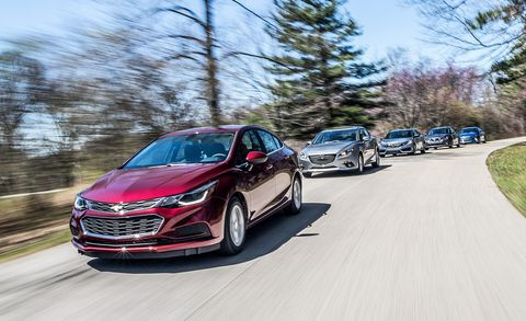Honda Civic 2016 Vs 2017 >> We Test Five Compact Sedans To See Which Ones Make The Grade