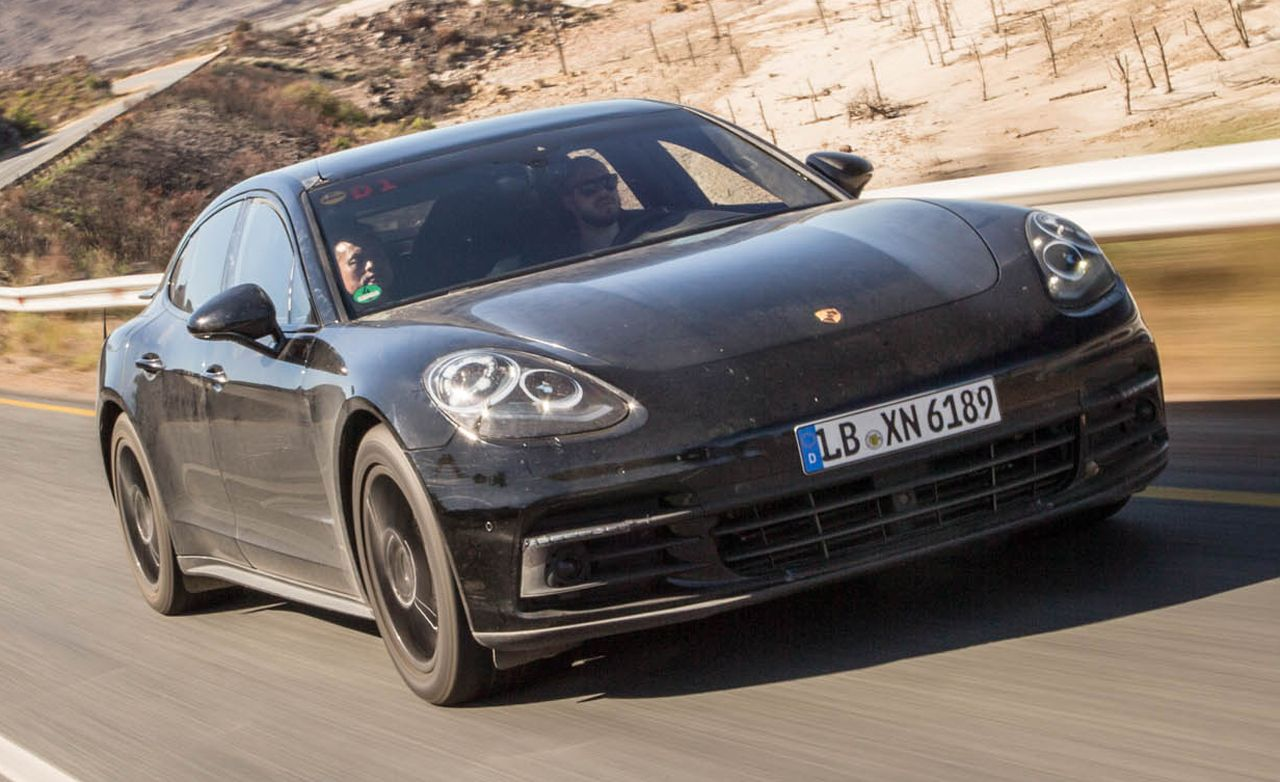 2017 Porsche Panamera Prototype Ride 8211 Review Car And Driver