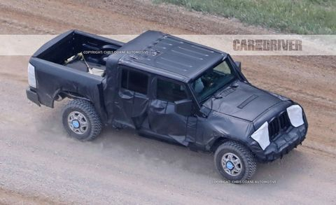 2018 Jeep Wrangler Pickup Spied Send In The Mules