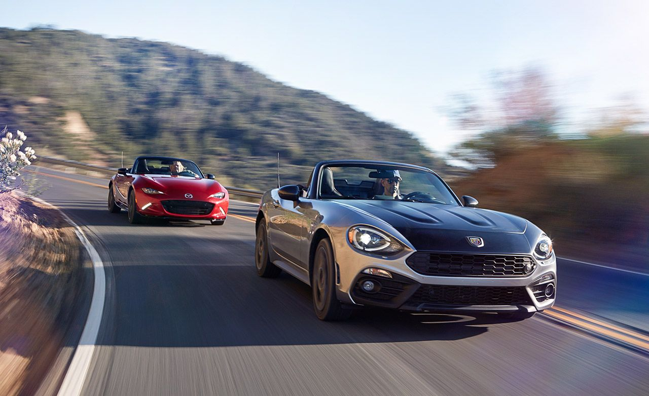 2017 Fiat 124 Spider Abarth Vs 2016 Mazda Mx 5 Miata Club 8211 Comparison Test Car And Driver