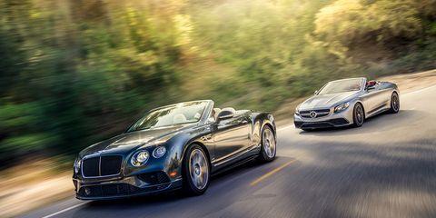 2017 Bentley Continental GT Convertible vs  2017 Mercedes