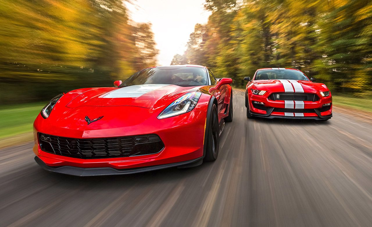 Chevrolet corvette grand sport and ford mustang shelby gt350 gt350r 2017 10best cars feature car and driver