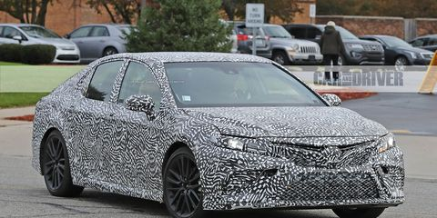 2018 Toyota Camry Trd Spied 8211 Future Cars 8211 Car And Driver