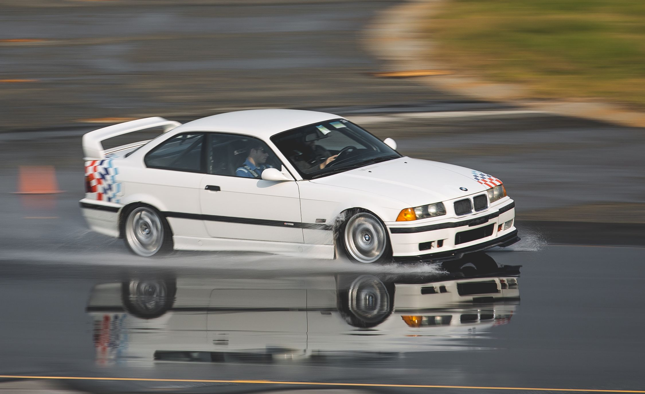 we drive the world\u0027s most busted out bmw m3 feature car  bmw e36 3 2 m3 race car