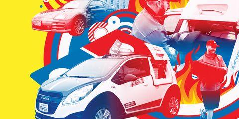 Motor vehicle, Automotive design, Mode of transport, Car, Red, Vehicle door, Fender, Hood, Automotive lighting, Automotive parking light,
