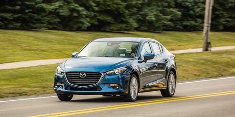 Land vehicle, Vehicle, Car, Mid-size car, Mazda, Personal luxury car, Sedan, Automotive design, Mazda3, Family car,