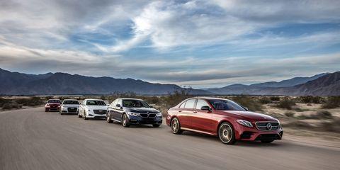 Audi A6 vs  BMW 540i, Cadillac CTS V-Sport, Jaguar XF S, Mercedes