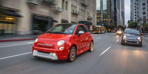 Land vehicle, Vehicle, City car, Car, Motor vehicle, Red, Fiat 500, Automotive design, Fiat, Fiat 500,