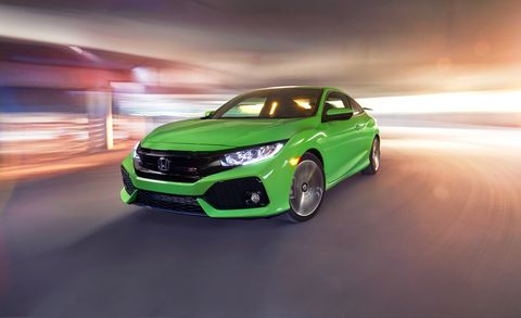 Honda Coupe 2017 >> 2017 Honda Civic Si Coupe Test Review Car And Driver