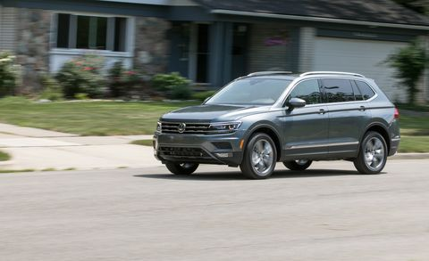 volkswagen tiguan motion test review car  driver