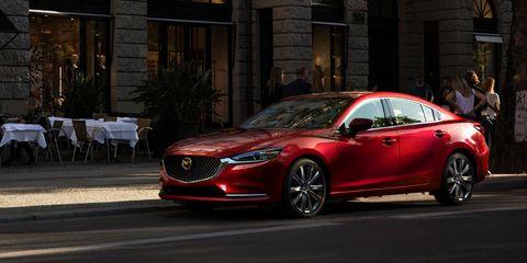 Land vehicle, Vehicle, Car, Mid-size car, Automotive design, Luxury vehicle, Mazda, Mazda6, Sedan, Personal luxury car,