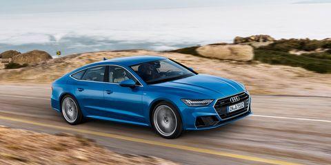 Land vehicle, Vehicle, Car, Blue, Luxury vehicle, Automotive design, Executive car, Audi, Performance car, Personal luxury car,