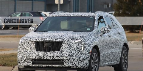 2019 Cadillac XT4: News, Platform, Engine, Price >> 2019 Cadillac Xt4 Crossover Spied Future Cars Car And Driver