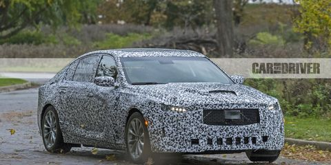 2020 Cadillac Ct5 Sports Sedan Spied Will Battle The 3 Series
