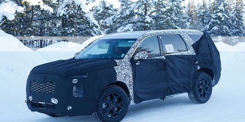 2019 Hyundai Santa Fe New Spy Shots And Redesign News >> Full Size Hyundai Suv Spied Ahead Of 2019 Debut News Car