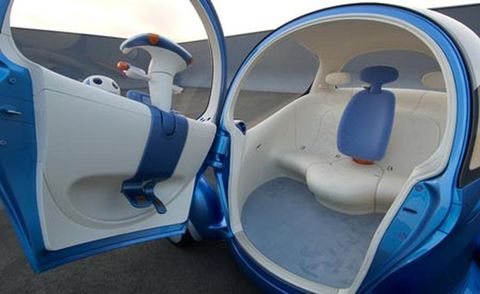 Mode of transport, Blue, Toilet, Azure, Plastic, Plumbing fixture, Composite material, Cleanliness, Toilet seat, Paint,