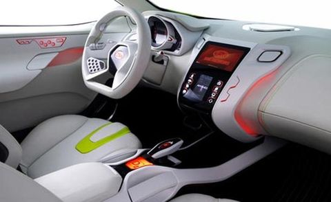 Motor vehicle, Mode of transport, Steering part, Product, Automotive design, Steering wheel, Transport, Red, White, Technology,