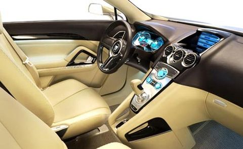 Motor vehicle, Steering part, Mode of transport, Blue, Steering wheel, Automotive design, Automotive mirror, White, Car, Center console,