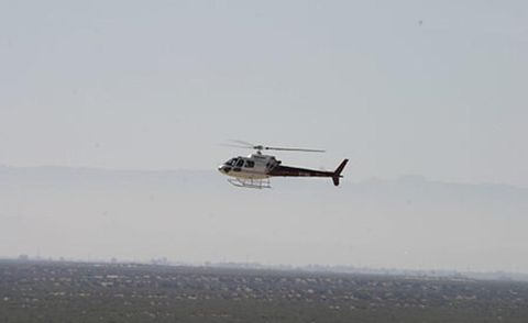Helicopter, Rotorcraft, Sky, Aircraft, Atmosphere, Helicopter rotor, Air travel, Flight, Aviation, Atmospheric phenomenon,