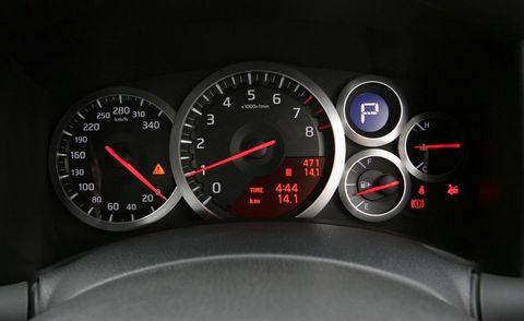 Speedometer, Red, Gauge, Tachometer, Carmine, Orange, Measuring instrument, Odometer, Fuel gauge, Trip computer,