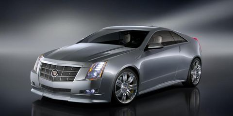 2010 cadillac cts v coupe concept