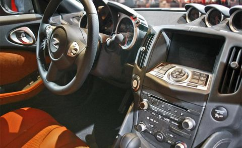 Motor vehicle, Mode of transport, Steering part, Brown, Automotive design, Steering wheel, White, Vehicle audio, Center console, Technology,