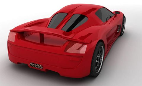 Automotive design, Automotive exterior, Red, Fender, Supercar, Sports car, Automotive lighting, Bumper, Black, Rim,