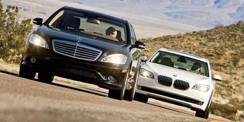 2009 bmw 750li and 2009 mercedes benz s550