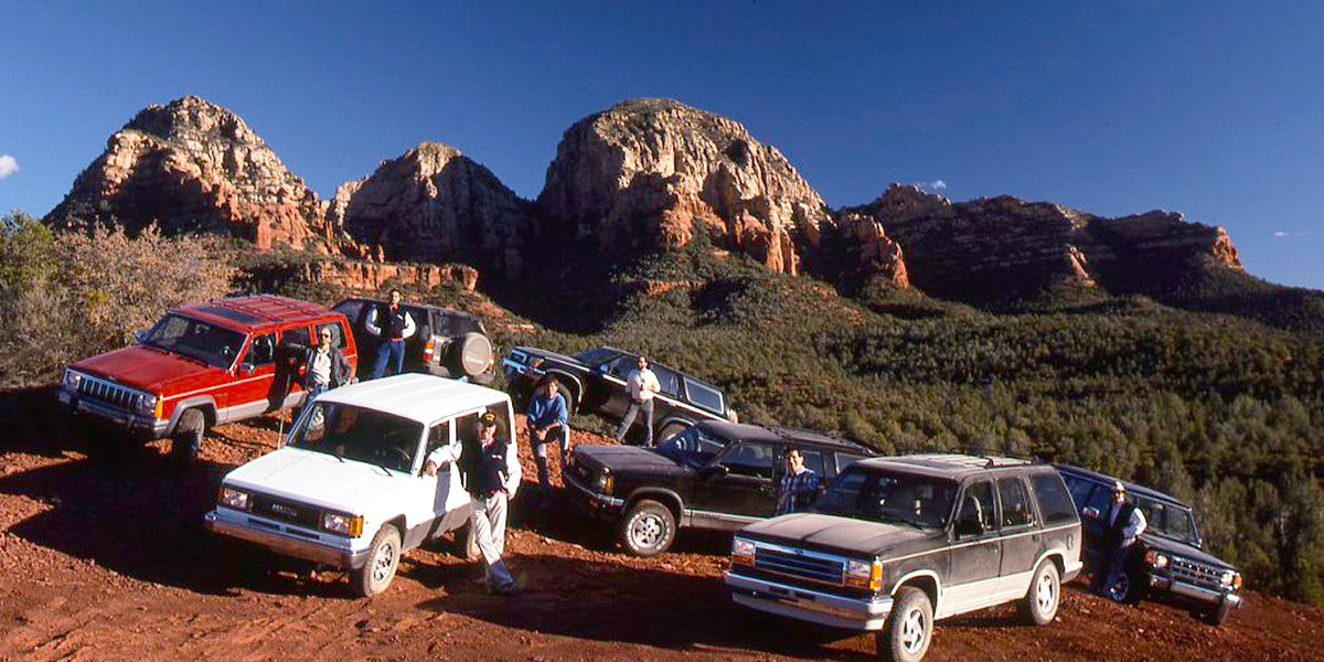 The Top SUVs of 1991 Compared: Ford Explorer vs  Six More