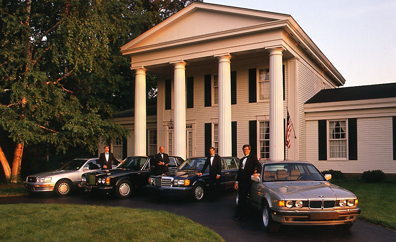 From The Archive 1990 Luxury Sedan Comparison Test