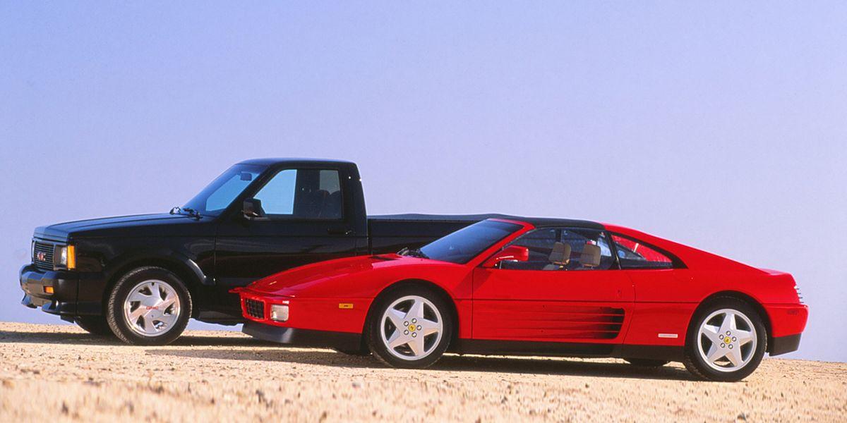 Tested 1991 Gmc Syclone Vs Ferrari 348ts