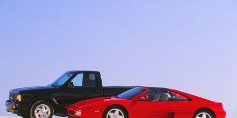 GMC Syclone vs  Ferrari 348ts –