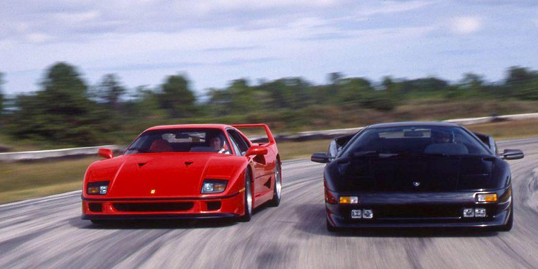 Tested 1992 Ferrari F40 Meets Lamborghini Diablo