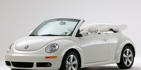 Vw Beetle Convertible >> 2007 Volkswagen Triple White New Beetle Convertible