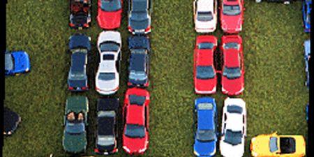Motor vehicle, Mode of transport, Blue, Transport, Automotive design, Red, Automotive exterior, Electric blue, Carmine, Automotive parking light,