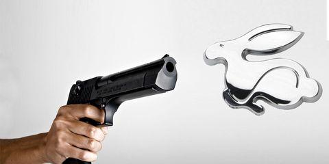 Gun, Firearm, Trigger, Horn, Gun accessory, Air gun, Gun barrel, Natural material, Airsoft gun, Revolver,