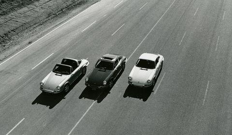 1972 porsche 911 e targa, s coupe, and t coupe