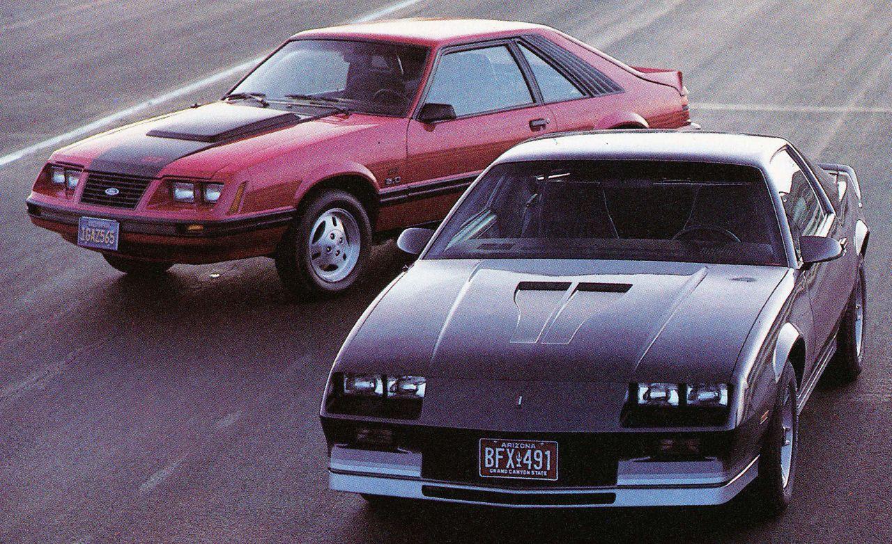 1983 ford mustang gt vs chevrolet camaro z28 h o