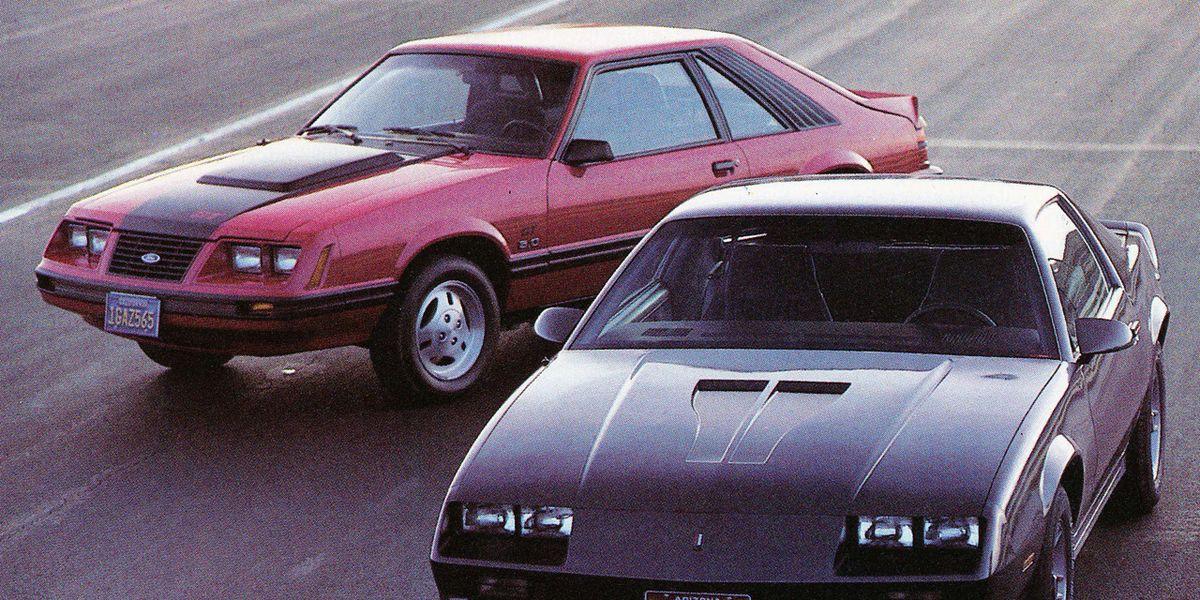 1983: Ford Mustang GT vs  Chevrolet Camaro Z28 H O