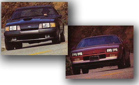 1985 Chevy Camaro Berlinetta vs  1985 Ford Mustang SVO