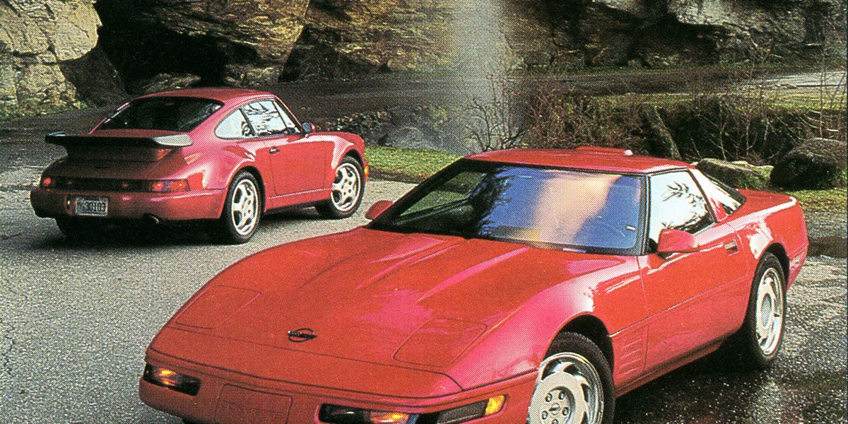 1991 Chevrolet Corvette ZR-1 vs  1991 Porsche 911 Turbo