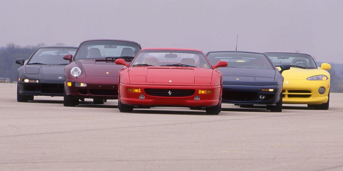 c94ca7d3d9 1995 Acura NSX-T vs. Dodge Viper RT/10, Ferrari F355, Lotus Esprit S4S,  Porsche 911 Turbo – Archived Comparison Test – Car and Driver