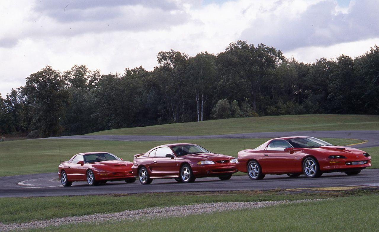 1996 ford mustang cobra vs chevrolet camaro z28 ss pontiac