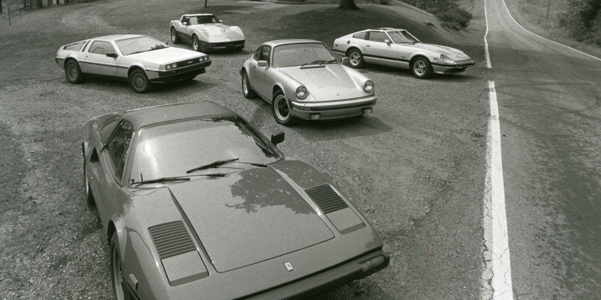 DeLorean vs. Corvette, Datsun 280-ZX, Ferrari 308GTS ...