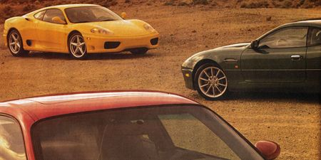 Aston Martin DB7 Vantage vs  Porsche 911 Turbo, Ferrari 360 Modena F1