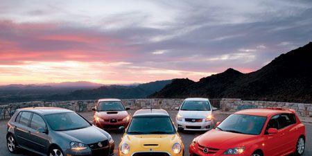 2007 Vw Gti Vs Subaru Impreza Wrx Tr Mini Cooper S Nissan Sentra Se R Spec V Mazdasd 3 Grand Touring
