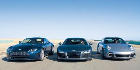 2007 Aston Martin V 8 Vantage Vs 2008 Audi R8 2007 Porsche 911 Turbo