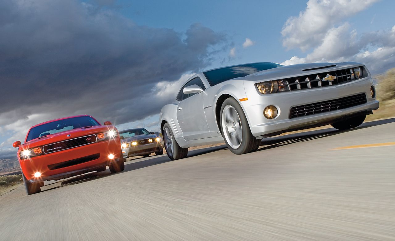 2010 chevy camaro ss vs 2010 ford mustang gt 2009 dodge challenger r t